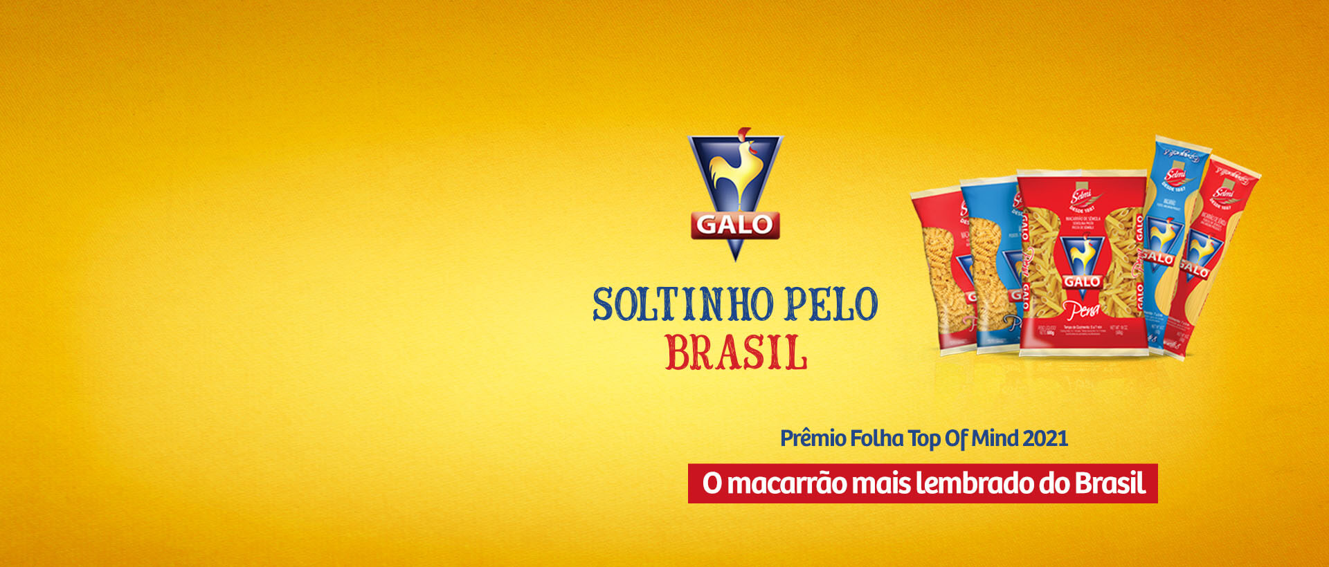 Banner campanha Galo Soltinho Pelo Brasil